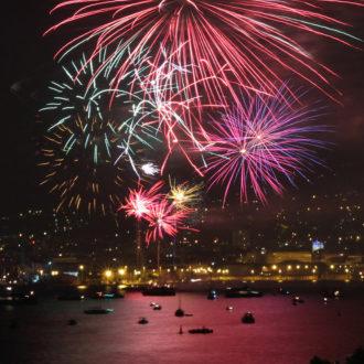 Feu d'artifice du 14 juillet à Toulon