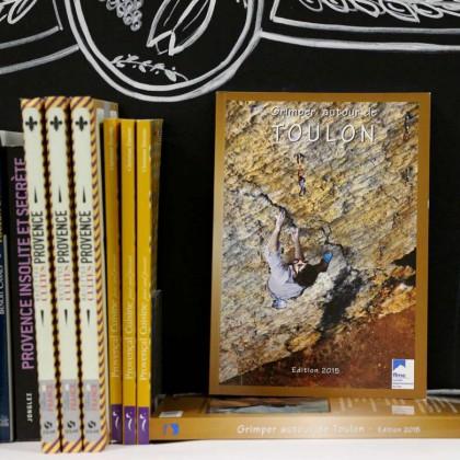 Boutique en ligne Toulon Tourisme librairie Grimper autour de Toulon recto
