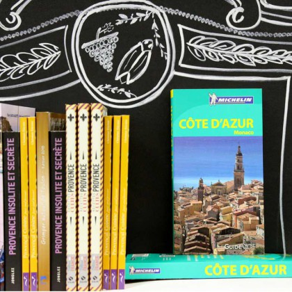 Boutique en ligne Toulon Tourisme librairie guide Vert Michelin Côte d'Azur recto