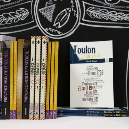 Boutique en ligne Toulon Tourisme librairie Toulon en 100 dates recto