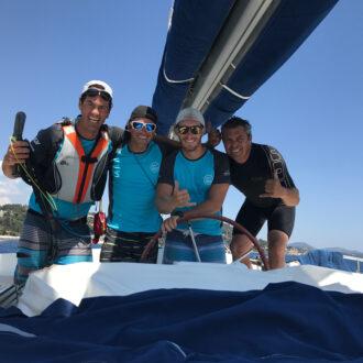 l'équipage du catamaran