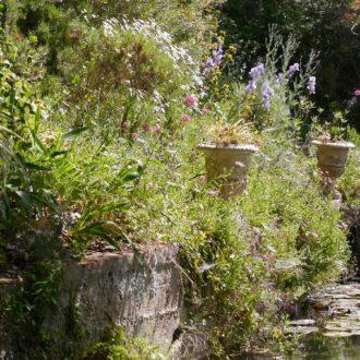 omniprésence de l'eau au jardin d'Orvès