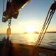 Coucher de soleil sur Méditerranée