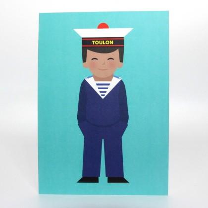 Affiche Marin - Illustration Off Toulon