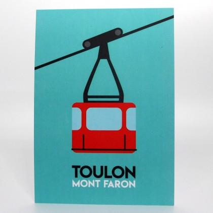 Affiche Téléphérique - Illustration Off Toulon