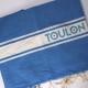 Fouta bleu foncé Off Toulon